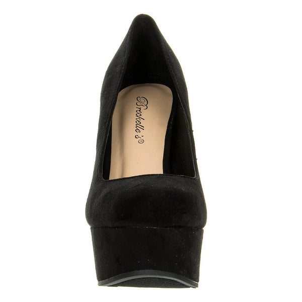 Cilo-11S Round Toe Wedge Pumps