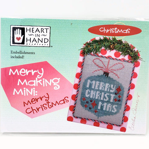 Merry Making Mini: Merry Christmas - Heart in Hand Cross Stitch Chart
