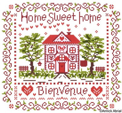Home Sweet Home cross stitch chart - Annick Abrial