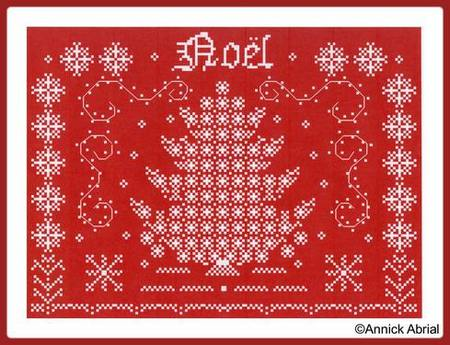 Noel cross stitch chart - Annick Abrial