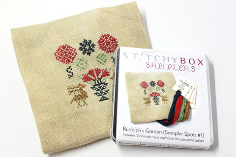 Rudolph's Garden Limited Edition Kit - Sampler Spots #1 (StitchyBox Samplers)