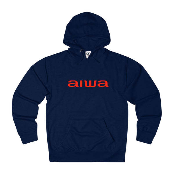 Aiwa Unisex French Terry Hoodie - Red Logo