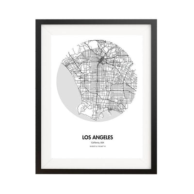 "Los Angeles Map Poster - 18 by 24"" City Map Print"
