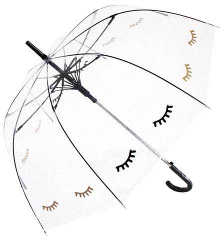 Closed Eyes Transparent Umbrella - Blooms of London - Designs inspired by nature