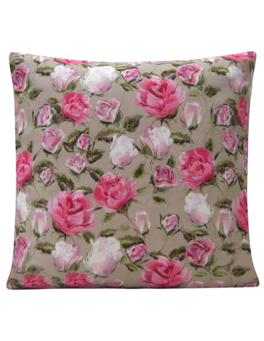 English Rose Design Cushion - Blooms of London - Designs inspired by nature