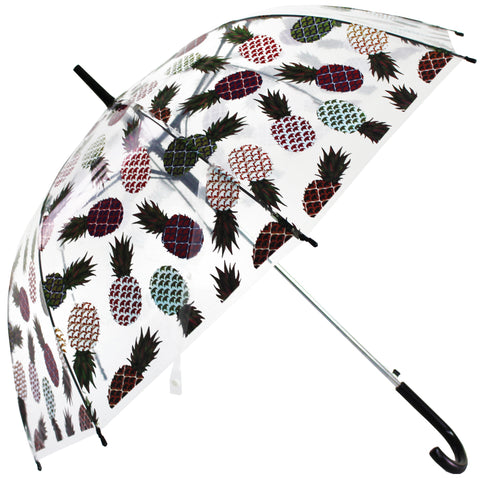 Pineapple Multi Colour Transparent Umbrella - Blooms of London - Designs inspired by nature