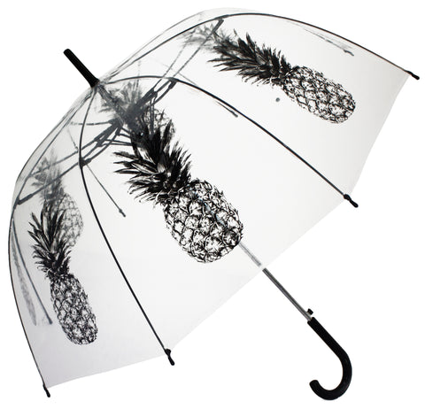 Gray Pineapple Transparent Umbrella - Blooms of London - Designs inspired by nature
