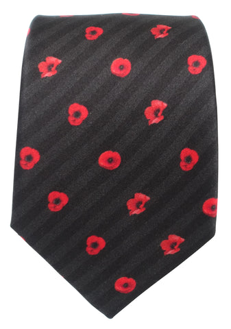 Black Poppy Tie - Blooms of London - Designs inspired by nature