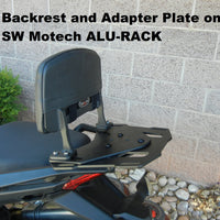 Backrest and Adapter Plate for the Honda CBR650F and CB650F '14-18. CBR 650F and CB 650F