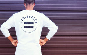 White Equality Minimalist, Long Sleeve T-Shirt (Black Lettering)