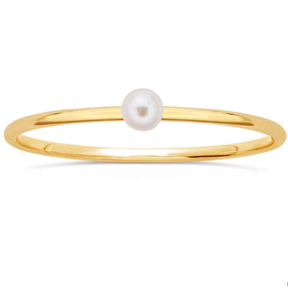 Pearl Stackable Sterling Ring