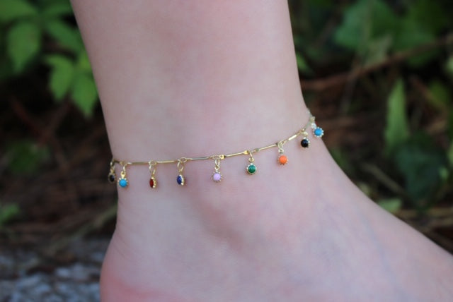 colorful anklet bracelets