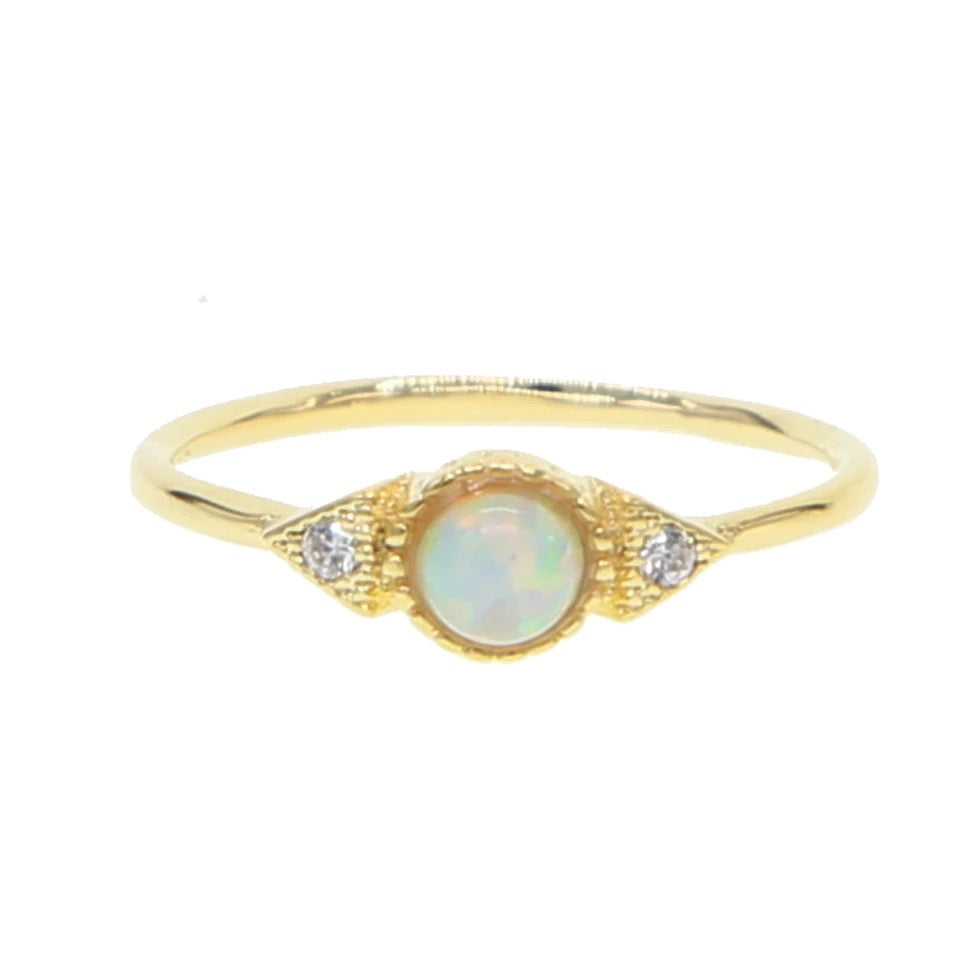 Golden Opal Ring - Nikki Smith Designs