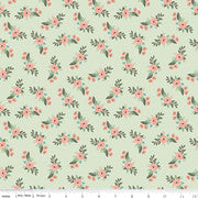Bliss Roses Floral Mint  C8161