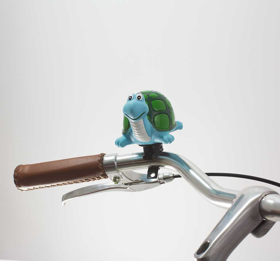 49N TURTLE BICYCLE HORN ON HANDLEBAR