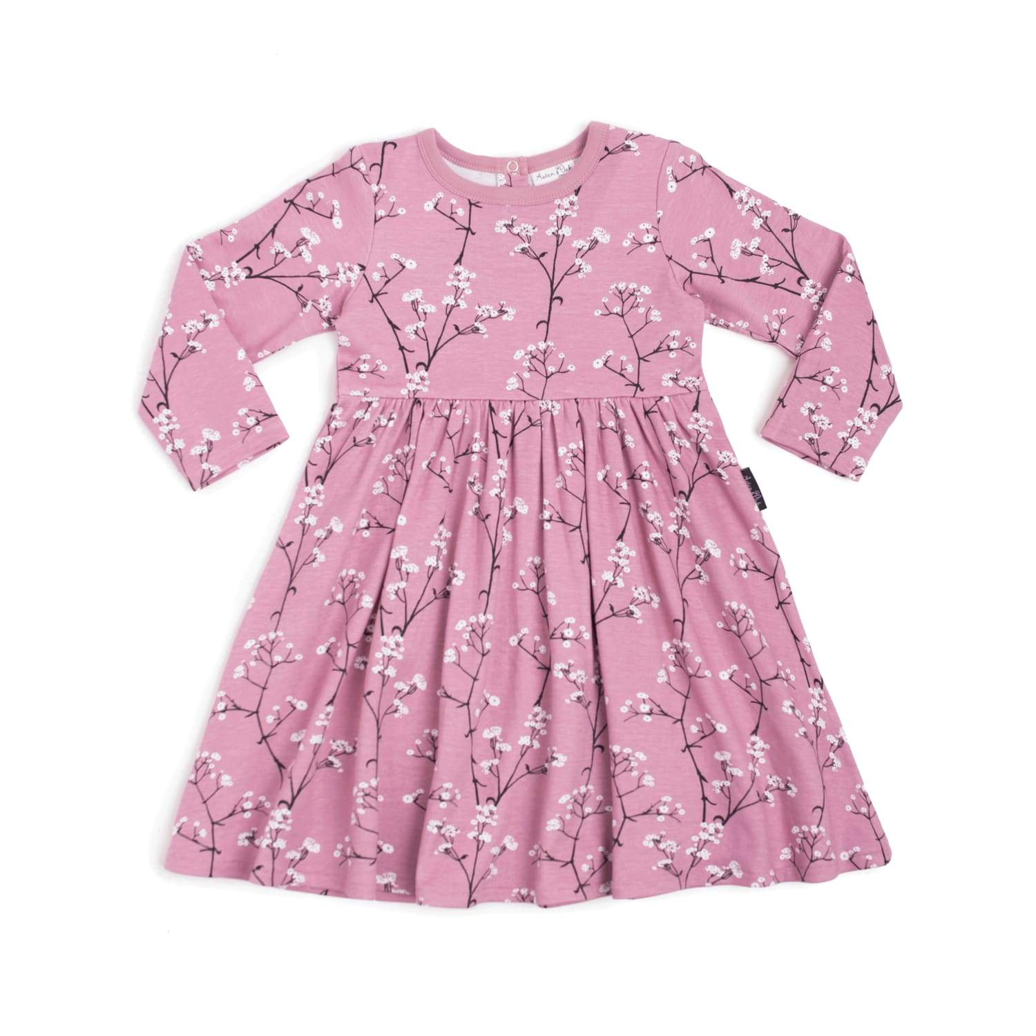 Aster & Oak Organic Cotton Baby's Breath Long Sleeve Dress - Naked Baby Eco Boutique