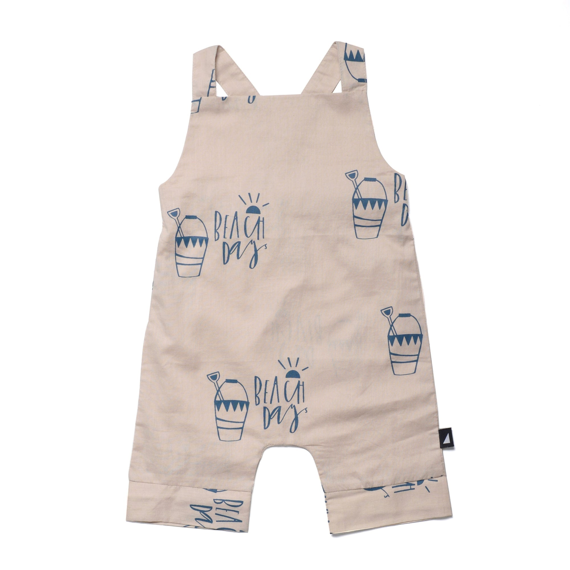 0-3 Months Anarkid Organic Cotton Beach Day Woven Overalls - Naked Baby Eco Boutique