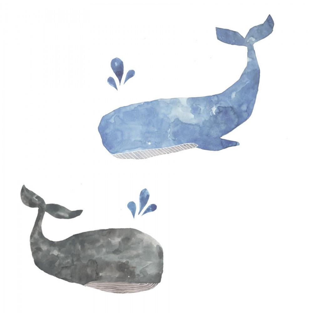 Love Mae Whales Fabric Wall Decals - Naked Baby Eco Boutique