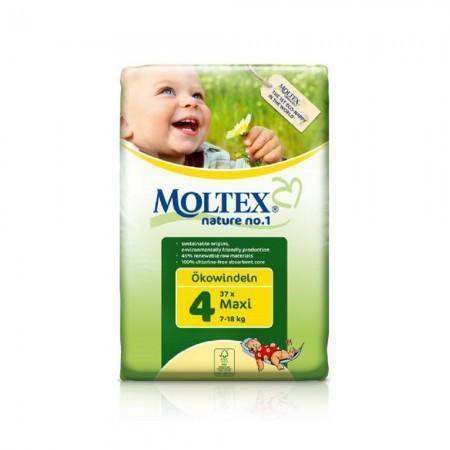 Moltex Maxi Nappies - Size 4 (7-18 kg) - Single Pack (30 Nappies) - Naked Baby Eco Boutique