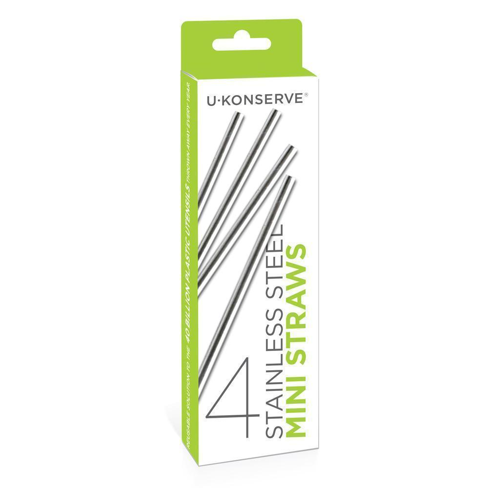 U-Konserve Reusable Mini Stainless Steel Straws - Naked Baby Eco Boutique