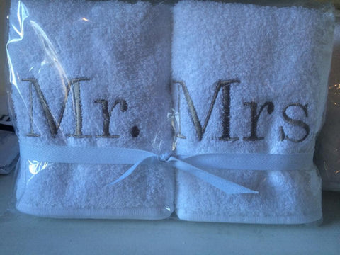 Mr & Mrs Hand Towel Set