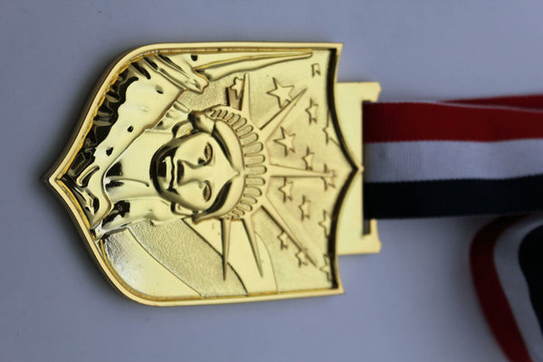 Gold Silver Metal Plate Big USA NYC Statue Of Liberty Pendant Necklace Men Fashion Accessories