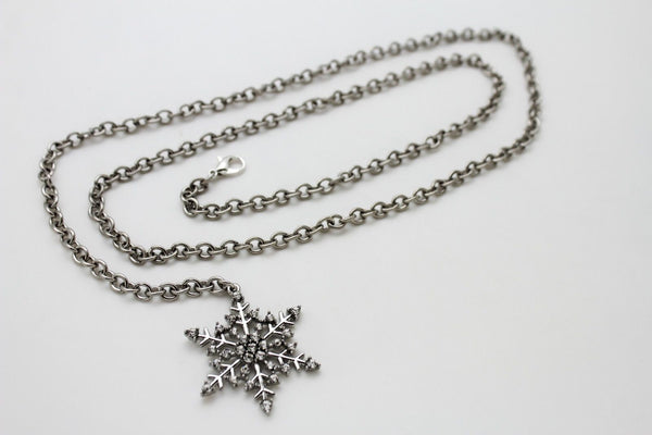 Silver Metal Chain Belt Christmas Winter Snow Flake Charm Hot Women Fashion Accessories XS-M & Plus Size M-XL - alwaystyle4you - 14
