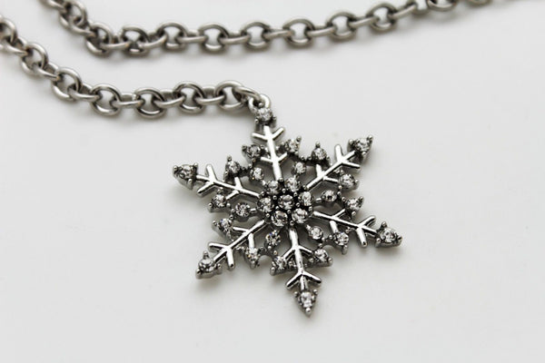 Silver Metal Chain Belt Christmas Winter Snow Flake Charm Hot Women Fashion Accessories XS-M & Plus Size M-XL - alwaystyle4you - 6