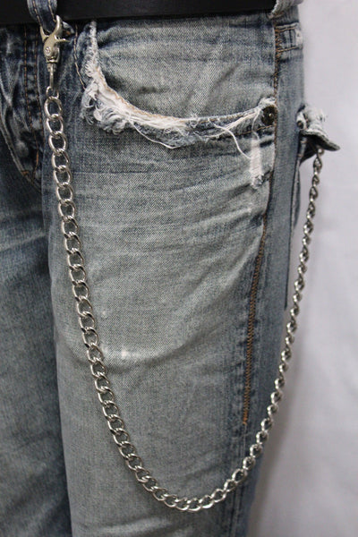 Silver Long Wallet Metal Chain Link KeyChain Classic Chunky Basic Jean New Men Style Accessories