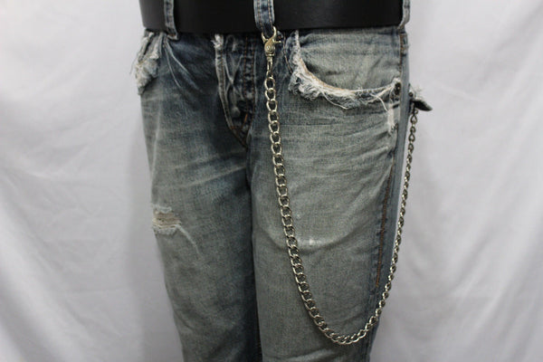Silver Long Wallet Metal Chain Link KeyChain Classic Chunky Basic Jean Motorcycle Biker Rocker New Men Style - alwaystyle4you - 5