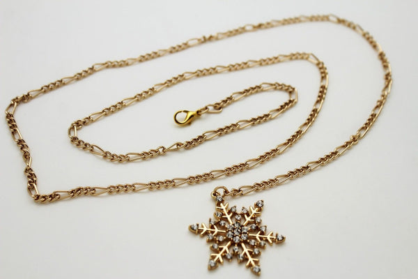 Silver Metal Chain Belt Christmas Winter Snow Flake Charm Hot Women Fashion Accessories XS-M & Plus Size M-XL - alwaystyle4you - 15