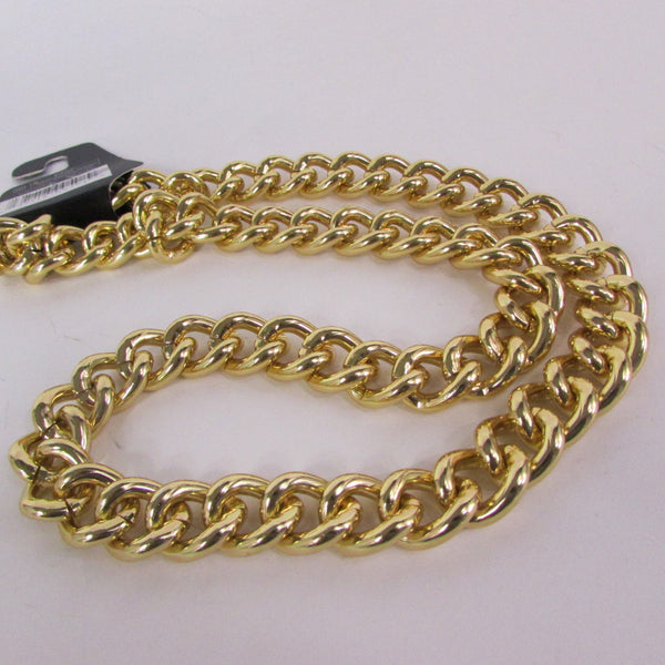 Gold Hip Hop Metal Thick Chains Extra Long Necklace New Men Women Chunky Gangster Fashion - alwaystyle4you - 2