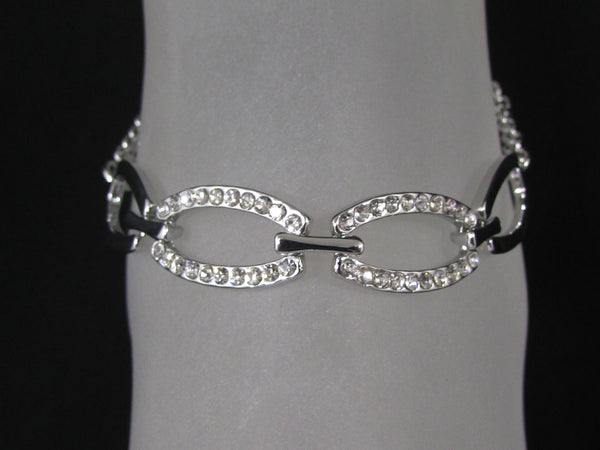New Women Silver Metal Thin Chains Fashion Casual Anklet Foot Oval Thin Rhinestones Pool Beach - alwaystyle4you - 2