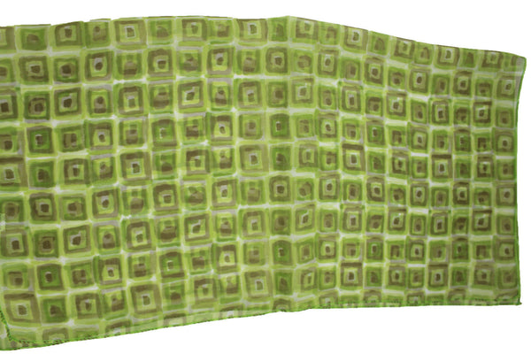 Green Blue Small Neck Scarf Fabric Geometric Square Print Pocket Square New Women Fashion - alwaystyle4you - 15