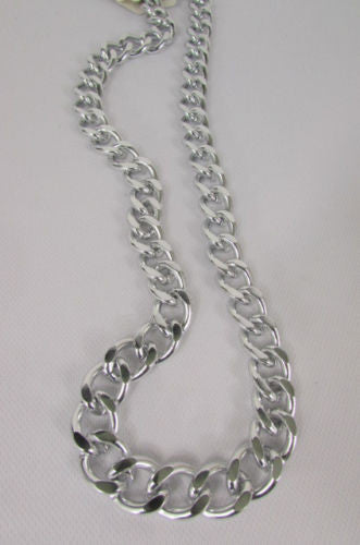 Gold Silver Metal Thick Chains Extra Long Chunky Gangster Necklace New Men Women Fashion Accessories