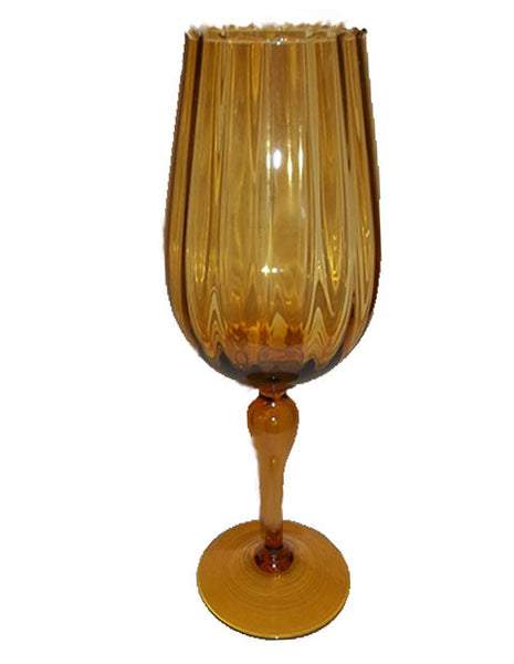 Large Amber Glass Vase - The Other Alley