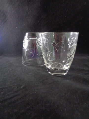 Pressed Leaf Rocks Glasses   S/4