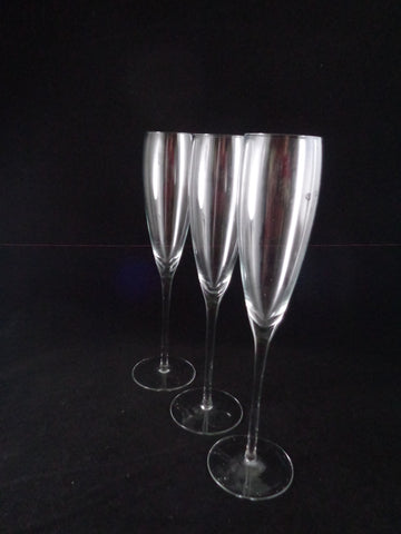 Tall Crystal Flutes  S/3