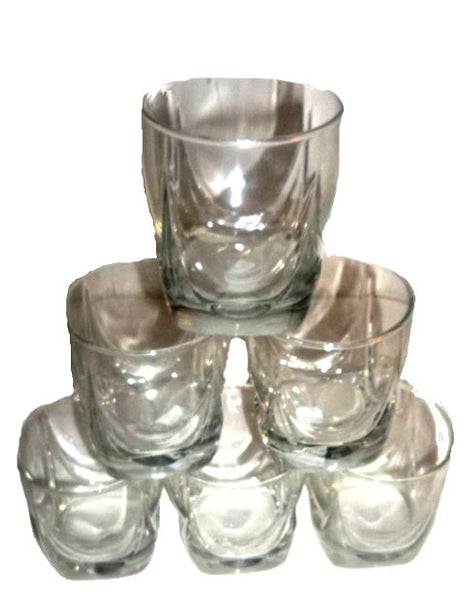Large Thumbprint Old Fashioned Rock Glasses - The Other Alley