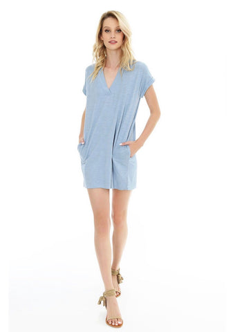 BOBI V-neck Pocket RESORT Slub Tunic