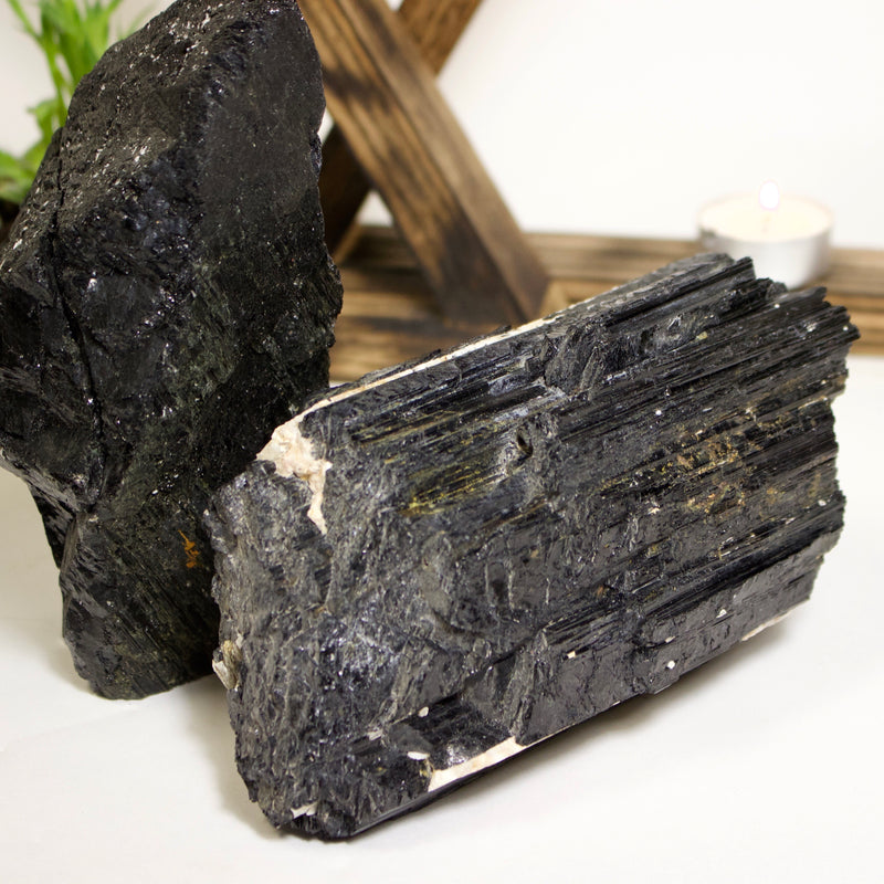 Black Tourmaline Chunk - Wildflower Long Island