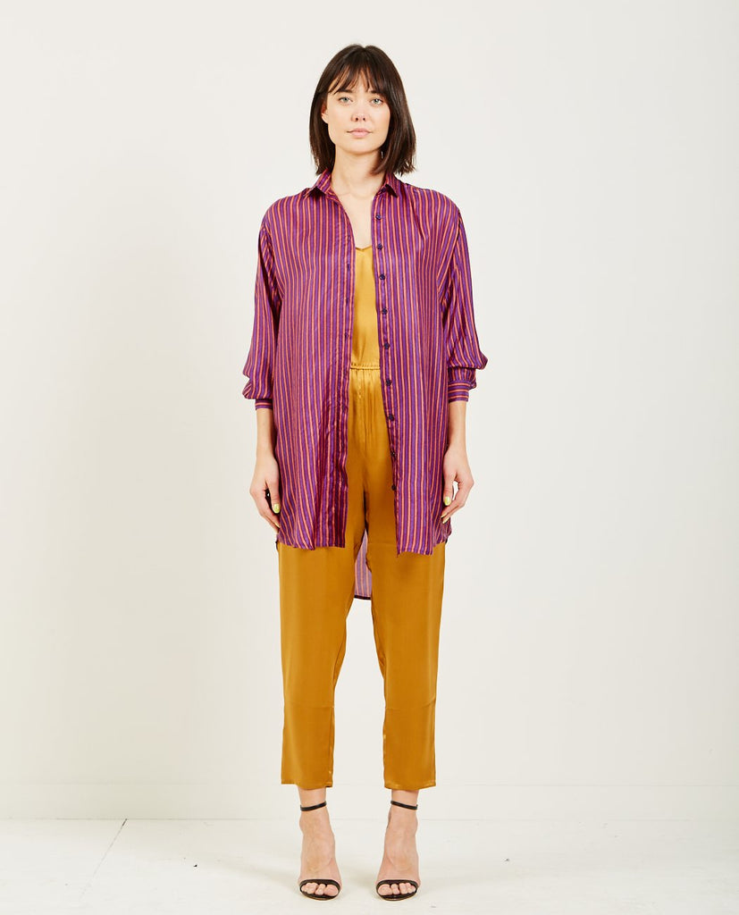 MES DEMOISELLES SOX LONG STRIPED SHIRT