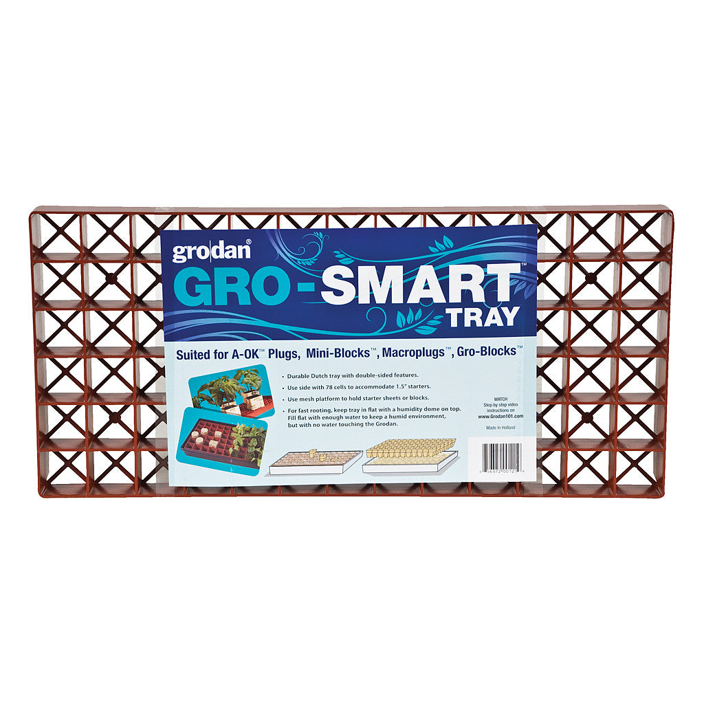 Gro-Smart Tray Terracotta Grodan - Pacific Coast Hydroponics Los Angeles