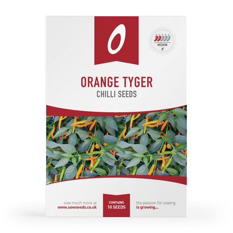 Orange Tyger Chilli Seeds