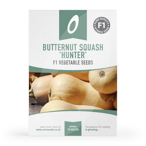 Butternut Squash Hunter F1 Seed Packet