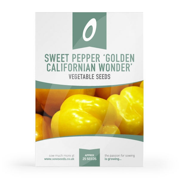Sweet Pepper Golden Californian Wonder Seeds