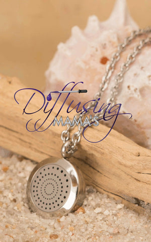 Round Silver Spiral (20mm) Aromatherapy / Essential Oils Diffuser Locket Necklace