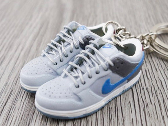 Mini sneaker keychain 3D Nike Dunk - Grey and Blue