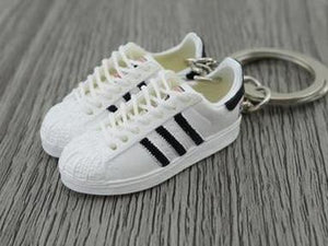 mini 3D sneaker keychains Adidas Superstar Run DMC My Adidas