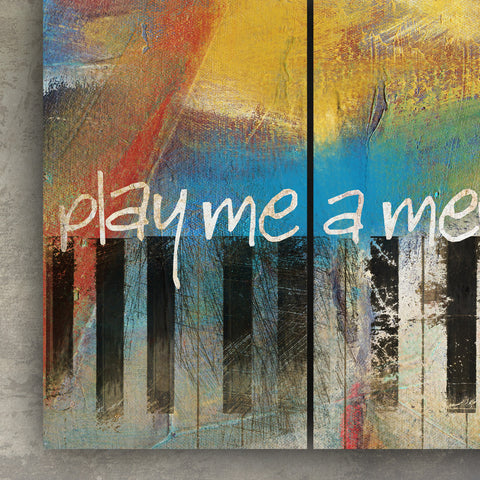 3D PIANO ABSTRACT TRIPTYCH METAL WALL ART   60 INCHES BY 36 INCHES